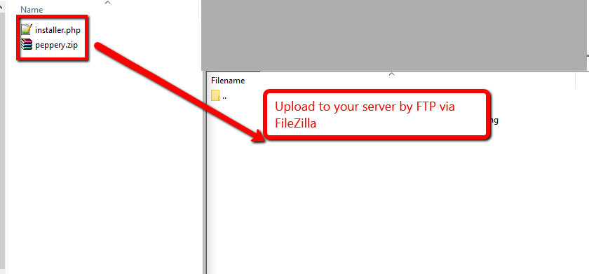 Upload these to your server via FTP