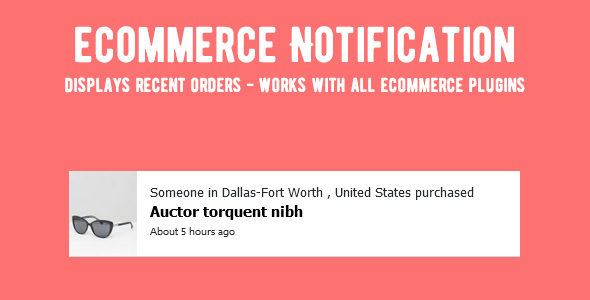 eCommerce Notifications