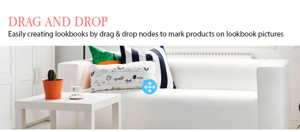 woocommerce lookbook drag drop