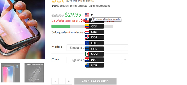 woocommerce multi currency - price switcher