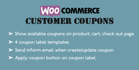 woocommerce customer coupons