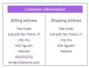 Customer information design a Professional E Commerce site