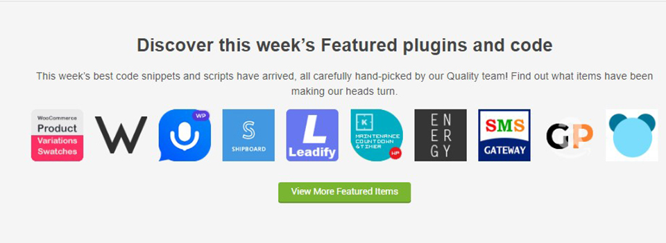 CodeCanyon's featured plugin