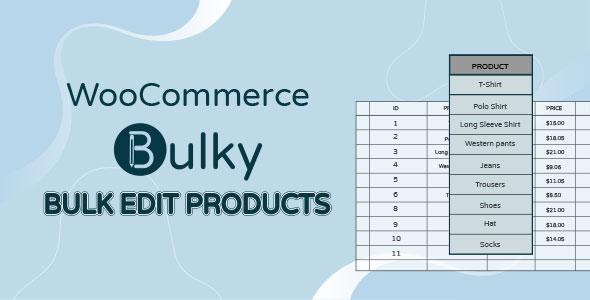 WooCommerce Bulk Edit Products
